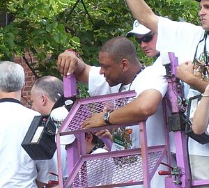 Doc Rivers - Rivers at the championship parade of the 2008 NBA Champions Boston Celtics.