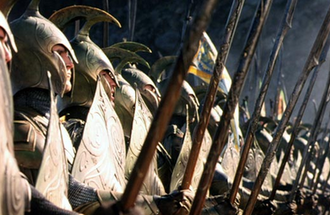 Weta Workshop - Costumes designed by Weta Workshops, Elven soldiers in The Lord of the Rings: The Fellowship of the Ring