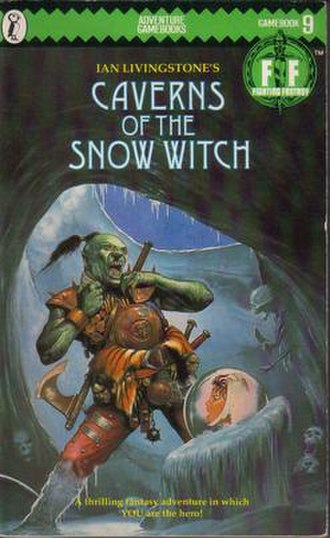 Caverns of the Snow Witch - The original Puffin Books cover of Caverns of the Snow Witch