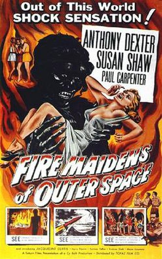 Fire Maidens from Outer Space - US theatrical release poster by Albert Kallis