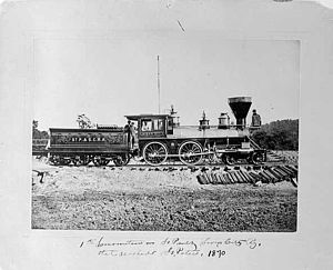 Org, Minnesota - First Train on the St Paul and Sioux City Railway
