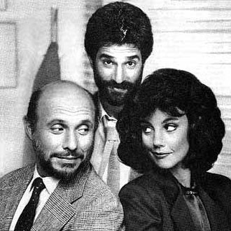 Foley Square (TV series) - Clockwise from top: Cast members Michael Lembeck, Margaret Colin, and Héctor Elizondo in a promotional photograph for Foley Square.