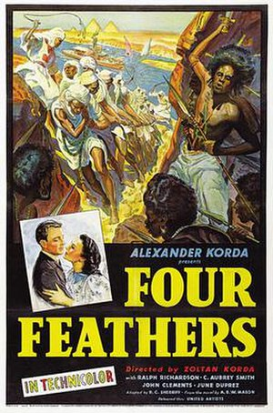 The Four Feathers (1939 film) - original 1939 movie poster