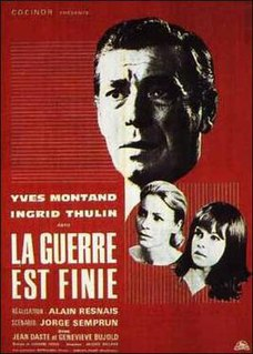 <i>The War Is Over</i> (1966 film) 1966 film by Alain Resnais
