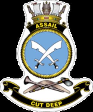HMAS Assail (P 89) - Ship's badge