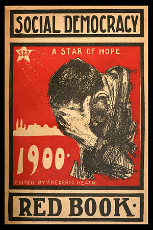 Social Democratic Party of America - Cover motiff of the paperback edition of Frederic Heath's Social Democracy Red Book.