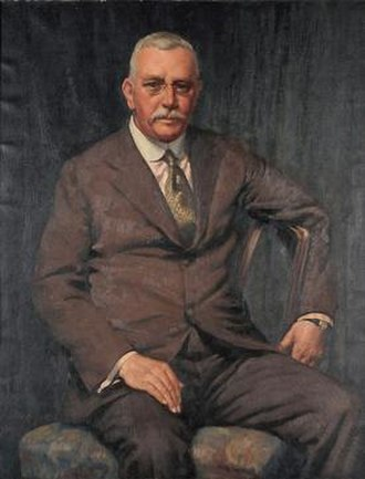 Howard Hinton (art patron) - Norman Carter (1875-1963), Portrait of Howard Hinton Esq, OBE. Oil on canvas, 1936.