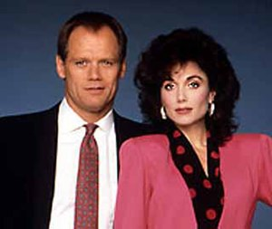 Hunter (1984 U.S. TV series) - Fred Dryer and Stepfanie Kramer in a 1988 promotional photo