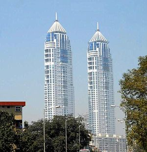Housing in India - The Imperial Towers, Mumbai are the tallest buildings in India.