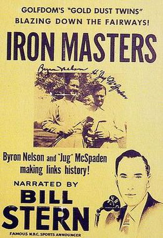 "Byron Nelson - Poster promoting a newsreel of the ""Gold Dust Twins"""