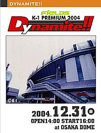 A poster or logo for K-1 PREMIUM 2004 Dynamite!!.