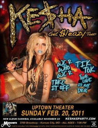 Get Sleazy Tour - Promotional poster for 2011 tour
