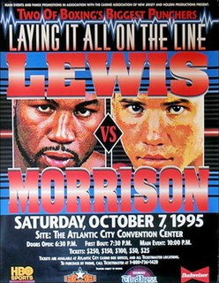 Lennox Lewis vs. Tommy Morrison Boxing competition