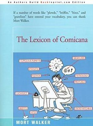 The Lexicon of Comicana - Front cover art