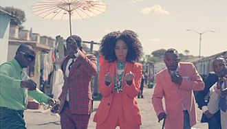 """Losing You (Solange Knowles song) - Knowles along with members of the Le Sape Society, as seen in """"Losing You""""."""