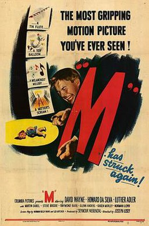 M (1951 film) - theatrical release poster