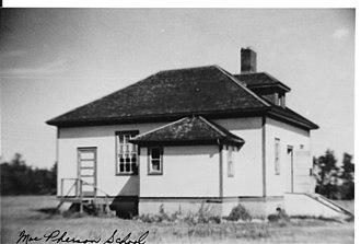 Grenfell, Saskatchewan - MacPherson School, north of town, circa 1925.