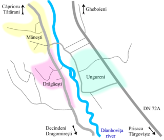 Mănești, Dâmbovița Commune in Dâmbovița, Romania