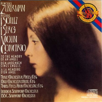 Manon Gropius - Image: Manon Gropius Berg Violin Concerto CD label