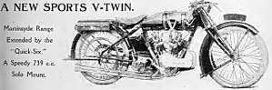 Martinsyde - May 11th, 1922, Motor Cycle magazine features new Martinsyde Quick Six