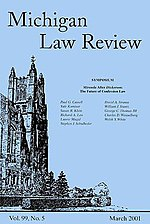 A typical Michigan Law Review cover.