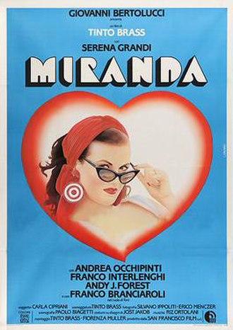 Miranda (1985 film) - Italian theatrical release poster