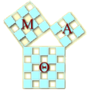 Mu Alpha Theta - The ΜΑΘ logo is a visual demonstration of the Pythagorean theorem