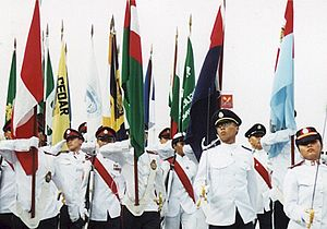 National Cadet Corps (Singapore) - Cadets of the three services marching in the annual NCC Day parade