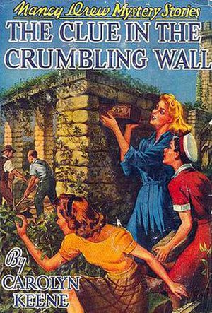 The Clue in the Crumbling Wall - First edition cover