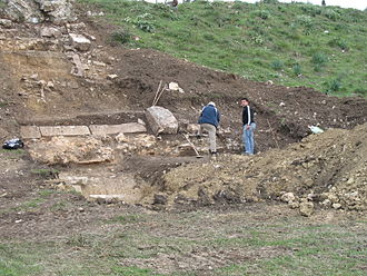 Actia - Archaeological research at the stadium in November 2006
