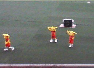 Shimizu S-Pulse - Club mascot Palchan and co performing at the 2007 All Star game.