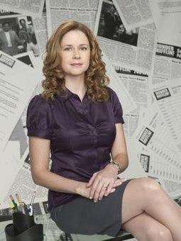 Jenna fischer as pam properties leaves