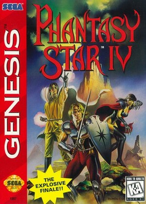 Phantasy Star IV: The End of the Millennium - Packaging for the European version.