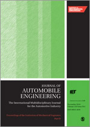 Proceedings of the Institution of Mechanical Engineers, Part D: Journal of Automobile Engineering - Image: Proceedings of the I Mech E D journal cover