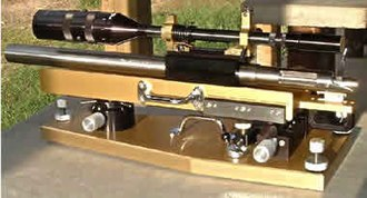 "Benchrest shooting - An unlimited class ""railgun""."
