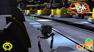 Star Wars Rogue Squadron III: Rebel Strike - Star Wars Rogue Squadron III: Rebel Strike features gameplay in ground vehicles and on foot, a first for the series.