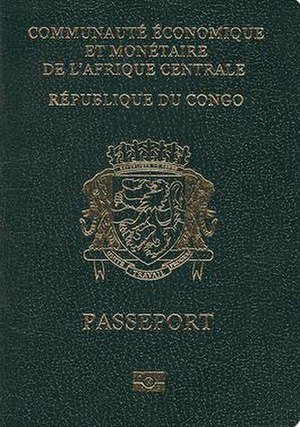 Republic of the Congo passport - Republic of the Congo passport front cover