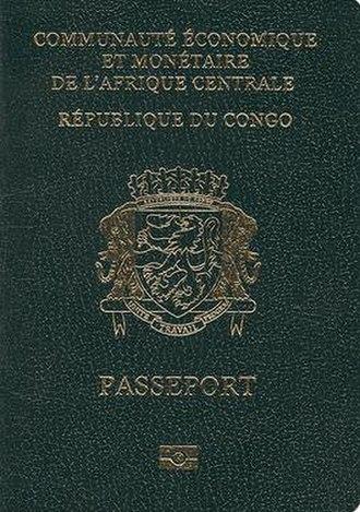 Republic of the Congo passport - Republic of the Congo passport front cover