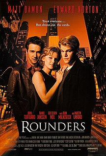 <i>Rounders</i> (film) 1998 American drama film by John Dahl