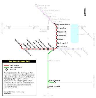 San Juan-Caguas Rail - Image: San Juan Caguas Rail map B