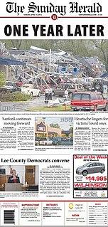 <i>The Sanford Herald</i> newspaper in Sanford, North Carolina
