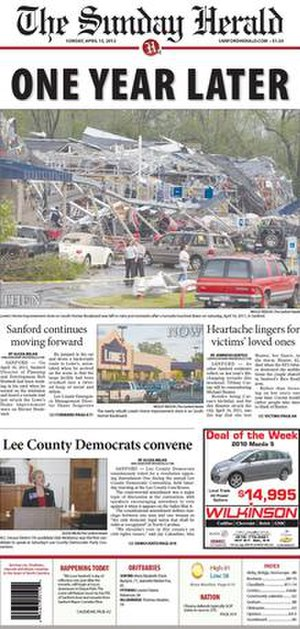 The Sanford Herald - Image: Sanford Herald Front