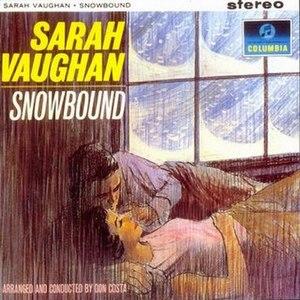 Snowbound (Sarah Vaughan album) - Image: Sasssnow