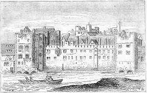 Savoy Palace - The Savoy Palace in 1650 drawn by Wenceslaus Hollar