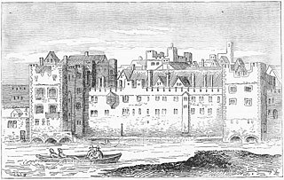 Savoy Palace the residence of John of Gaunt until it was destroyed in the Peasants Revolt of 1381