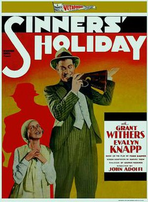Sinners' Holiday - theatrical release poster