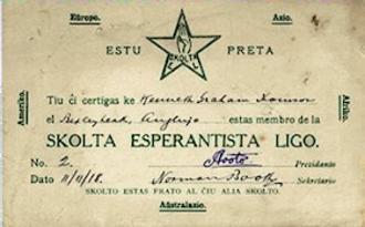 Skolta Esperanto Ligo - Membership card