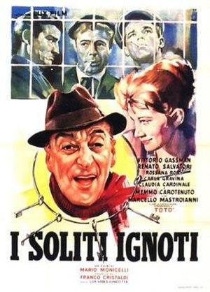 Commedia all'italiana - I soliti ignoti (1958), ranked as the first of the Commedia all'italiana