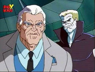Silvermane - Silvermane (left) and Tombstone in Spider-Man: The Animated Series