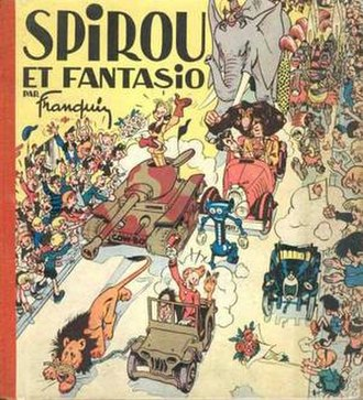 Spirou et Fantasio (comic book) - Cover of the Belgian edition